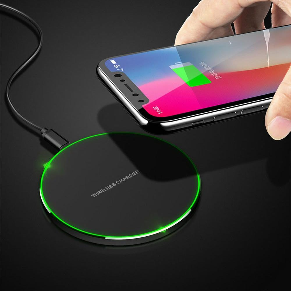 Qi Fast 10W Wireless Smart Phone Charging Pad
