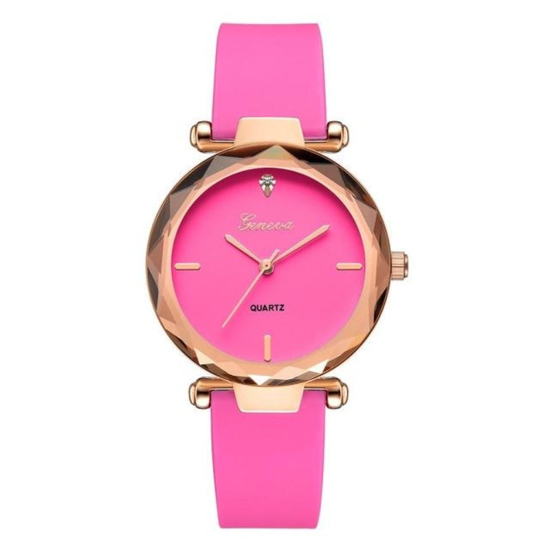Dark pink watch