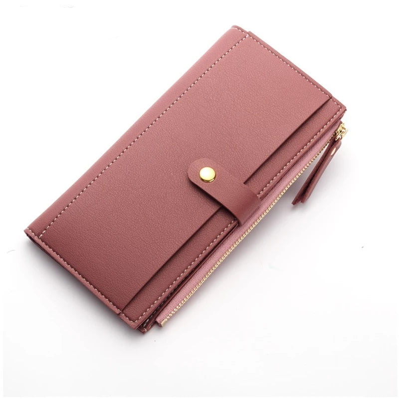 Women's Long Solid Luxury Wallet Clutch