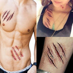 5 Pack: Halloween Scar Wounds Tattoo Costume Make-Up
