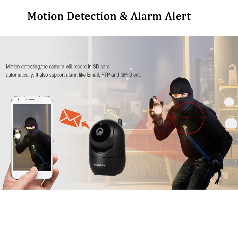 1080P HD Intelligent Wireless IP Auto-Tracking Motion Sensor Security Camera