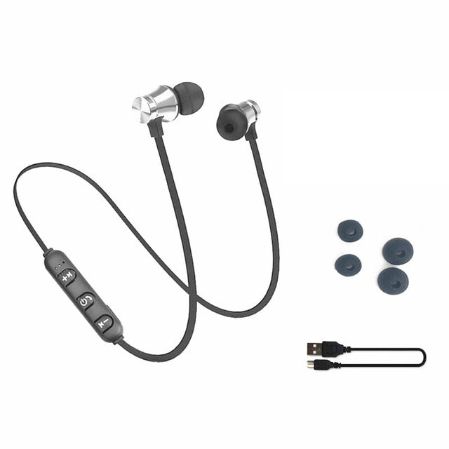 Magnetic Attracted Bluetooth Headphones with Built-In Mic