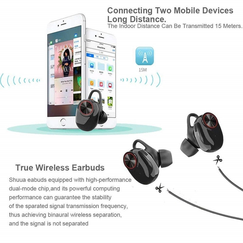 YT8 5.0 Bluetooth TWS Earbuds with Free Charge Box