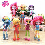 7pcs/Set 14cm Hasbro My Little Pony Toys Friendship Is Magic Pony PVC Action Figures Set Collectible Model Doll Dolls For Kids