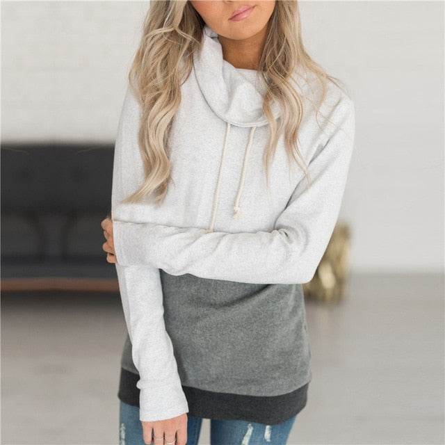 Women's Casual Long Sleeve Pullover Hoodie