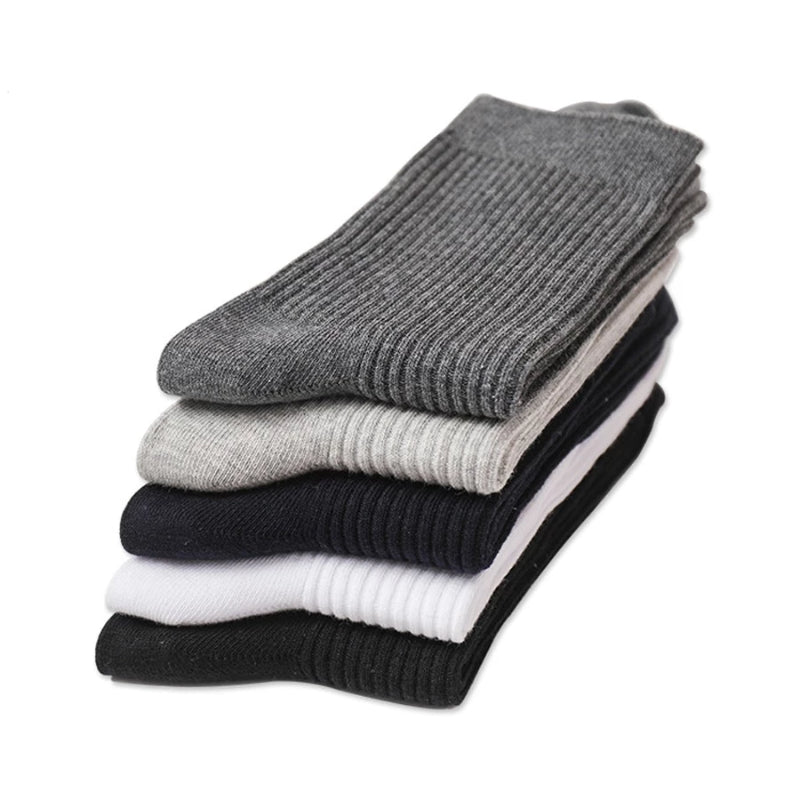 5 Pairs Men's Cotton Long Business Diabetic Socks