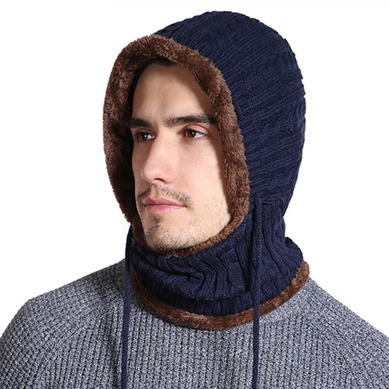 Long Neck Fur Lined Hoodie Neck Warmer