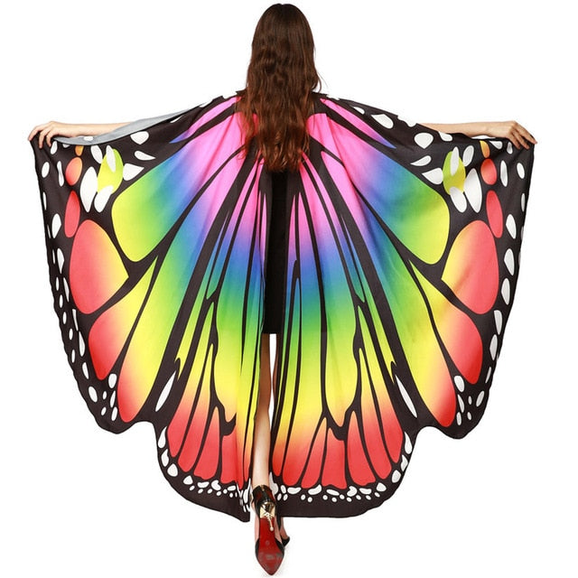Butterfly Wings Pashmina Shawl Scarf Nymph Pixie Poncho Costume