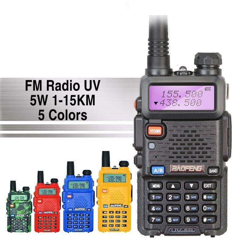 UV-5R Professional 5W Walkie Talkie with FM Radio