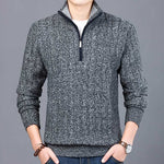 Men's Half Zip-Up Pullover Slim Fit Knitted Sweater