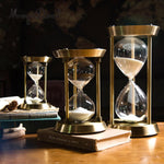 Clear Glass Time Keeper Sand Hourglass