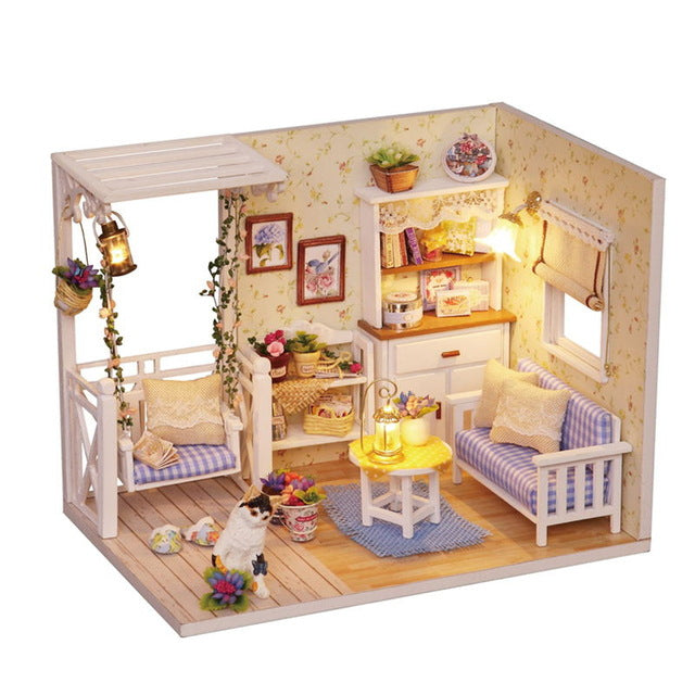 $24.99 (reg $94) 3D Wooden Doll House with Furniture
