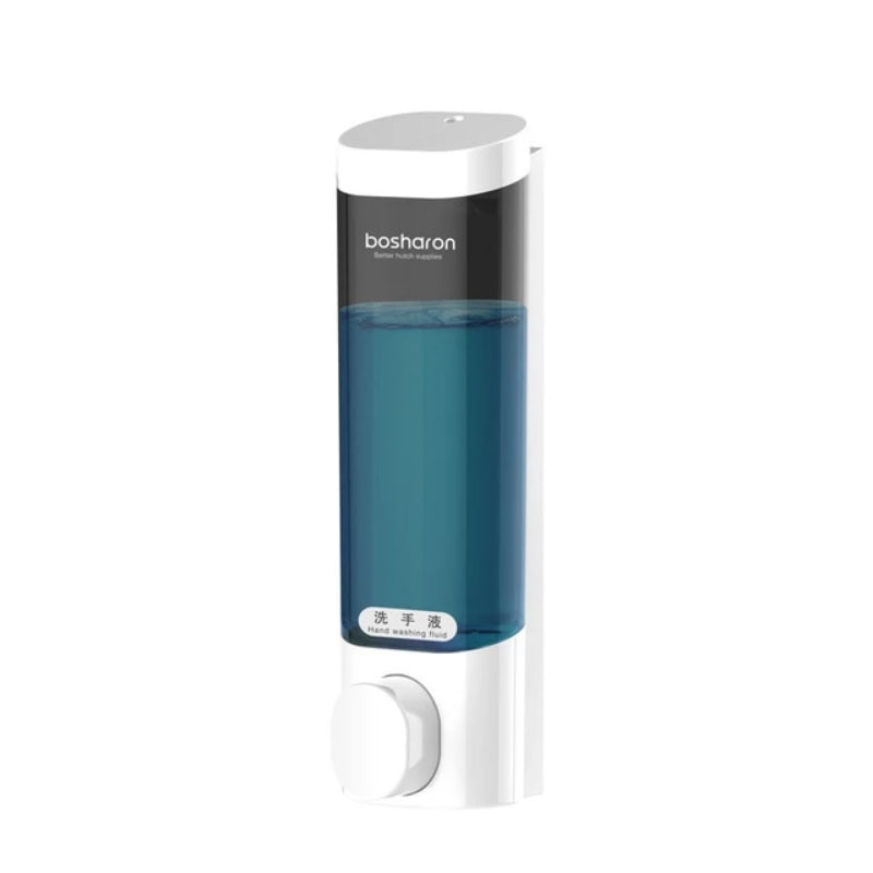 White Single Wall Mount Liquid Soap Dispenser