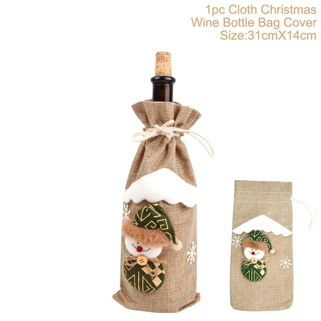 Christmas Decorations for Wine Bottle