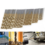 50 Piece: Titanium Coated Drill Bit Tool Set