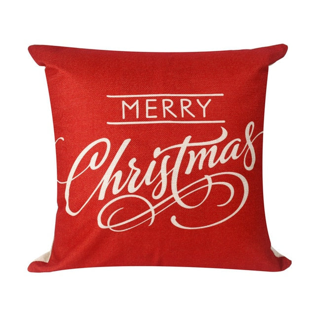 Home Christmas Decorative Couch Pillow Cases