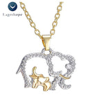 Women's Elephant Crystal Pendant Necklace