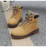 Men's Winter Fur Lined Safety Work Boots