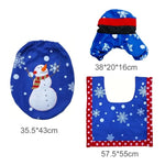 3 Piece: Christmas Themed Bathroom Toilet Sets