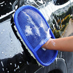 Soft Wool Brush Car Washing Glove