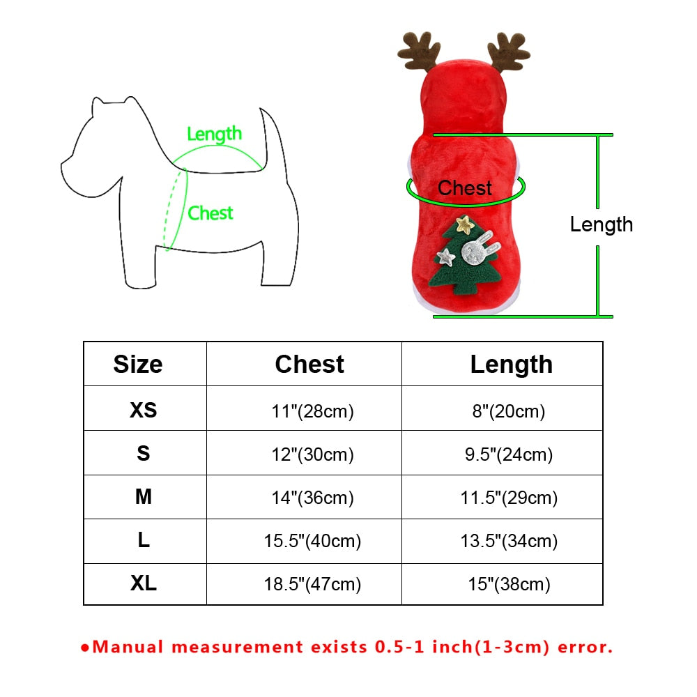 Christmas Santa Costume for Pets