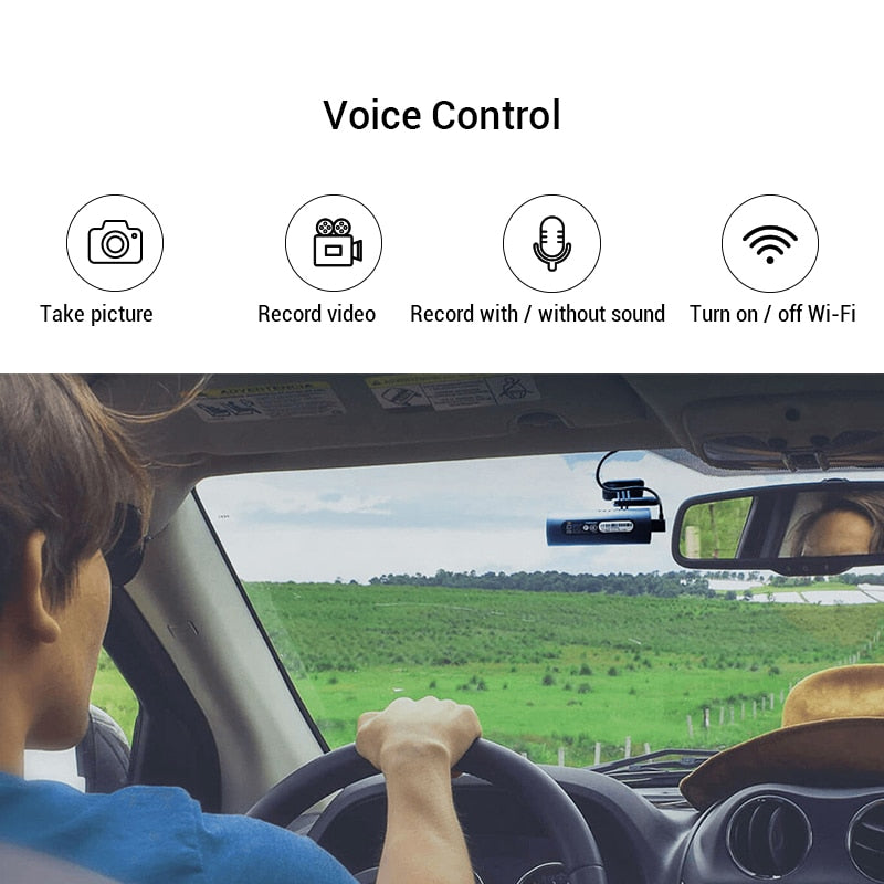 Voice Control 1080P HD Night Vision Car Dashcam