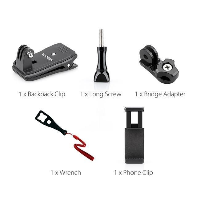 360-Degree Rotating GoPro Compatible Action VideoCam Mounting Clip