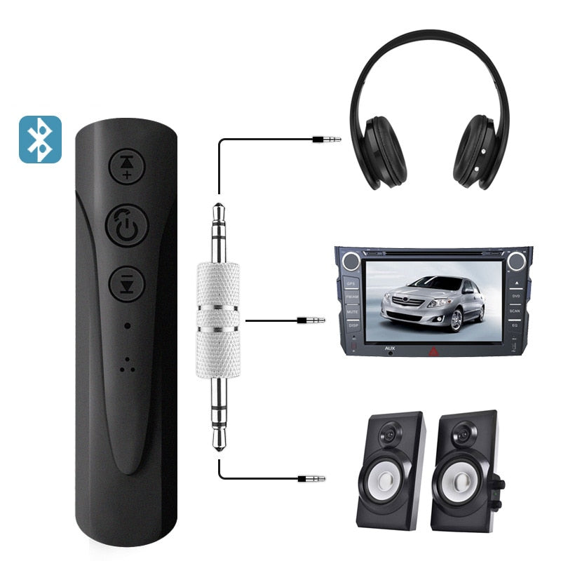 2-in-1 Bluetooth AUX Audio Receiver MP3 Adapter