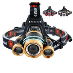 T6 15,000 Lumens High Power Zoomable Headlamp