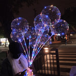 10 Pack: Transparent Decorative LED Party Balloons