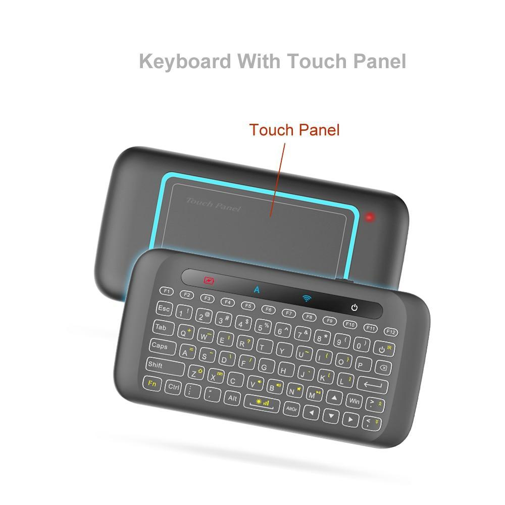 Mini Wireless Keyboard and Touchpad Mouse Remote Control with Backlight