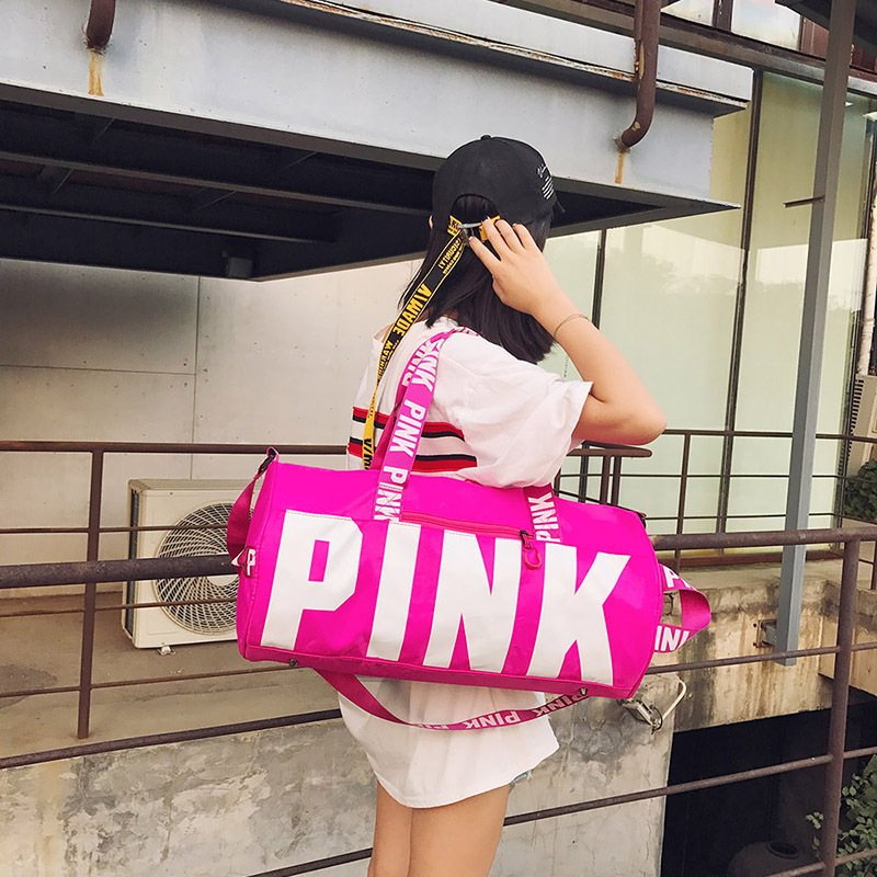 "Women's ""Pink"" Fashion Travel Duffle Bag"