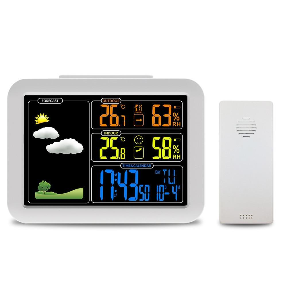 Indoor and Outdoor Colorful LCD Display Weather Station