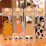 Cute Cartoon Milk Carton Shaped Water Bottle Flasks - BPA FREE