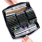 Genuine Leather 36 Slot RFID Wallet
