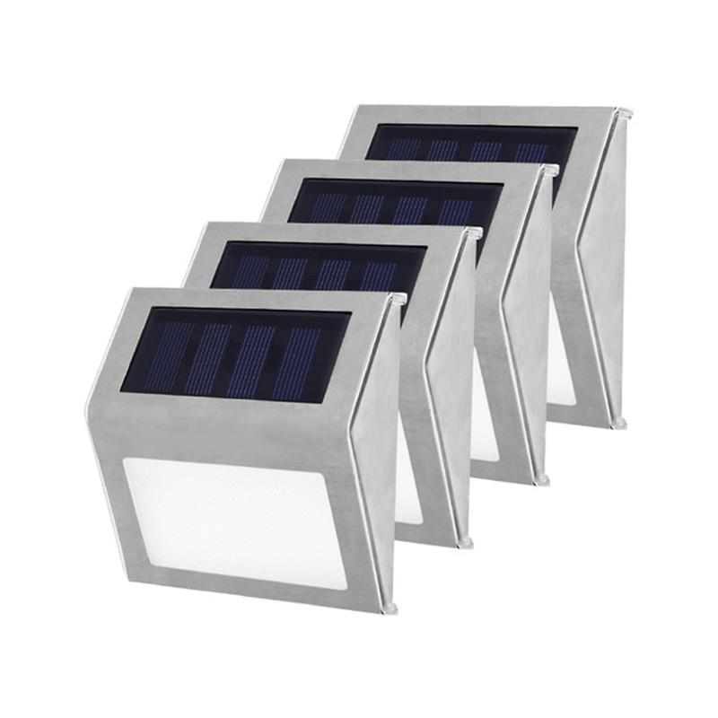 Stainless Steel LED Solar Powered Pathway Lights