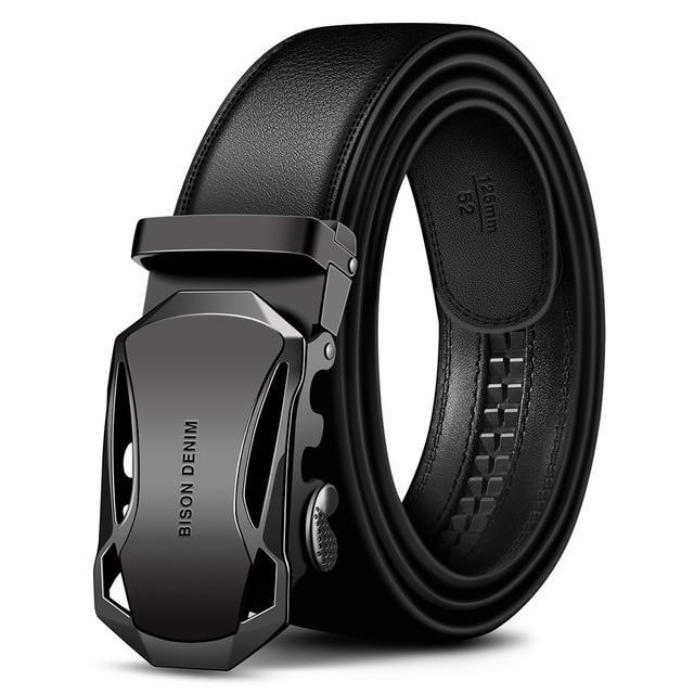 Men's Denim Leather Automatic Buckle Belt