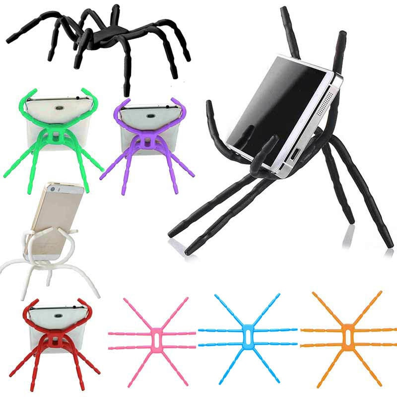 Posed Blue Adjustable Universal Phone Stand Holder Spider