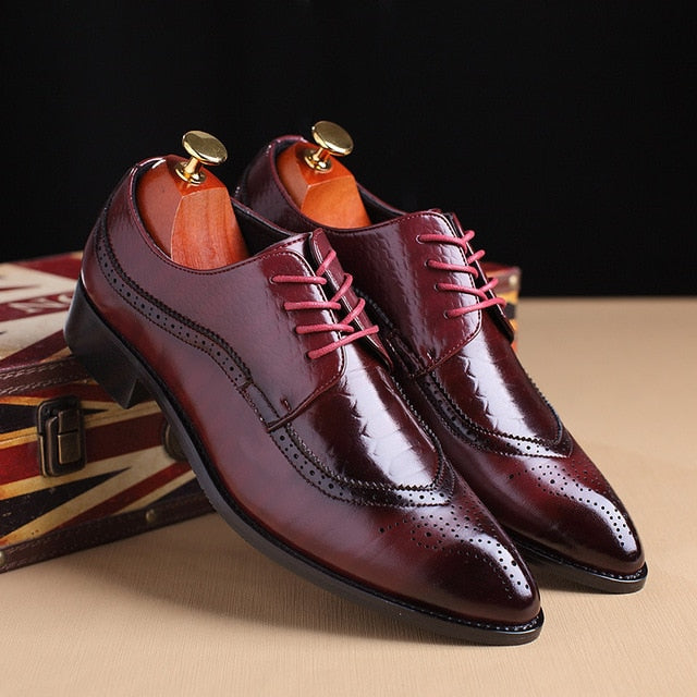 Men's Classic British Style Business Dress Shoes
