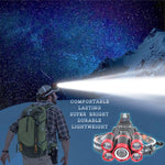 Ultra Bright 40,000 Lumens LED 4-Mode Rechargeable Headlamp