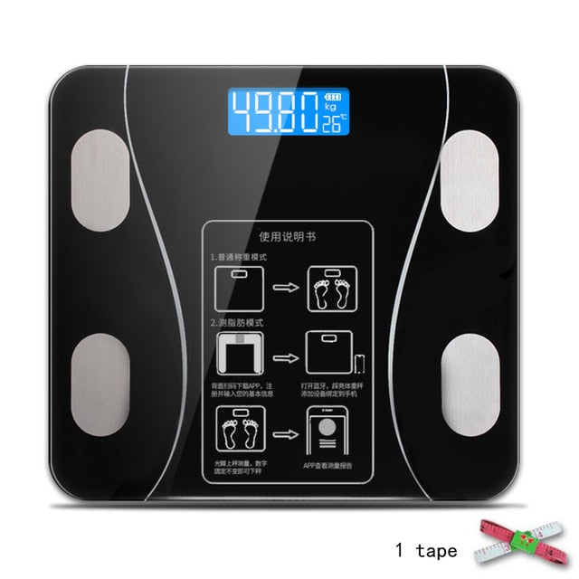 Electronic Digital LCD LED Bluetooth Smart Scale