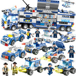 8-in-1 Police SWAT Defense Team Building Blocks Set