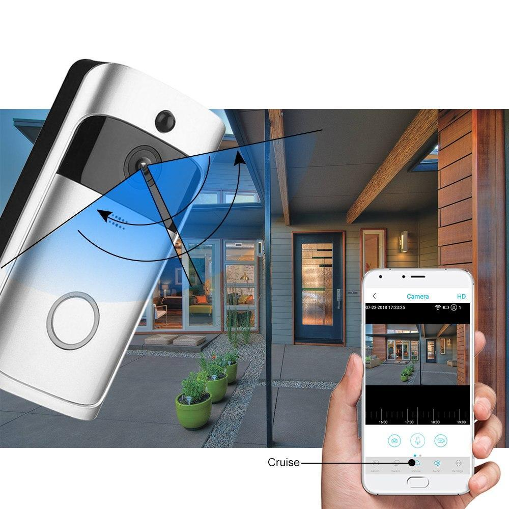 Image of 1080P Smart Video Night Vision WiFi Home Security Doorbell