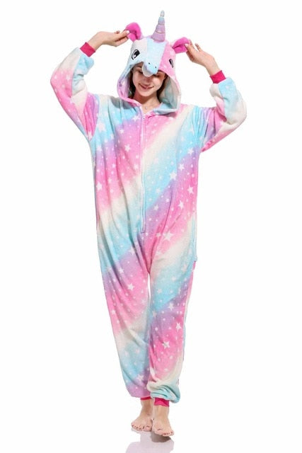 Winter Adults Animal Unicorn Pajamas