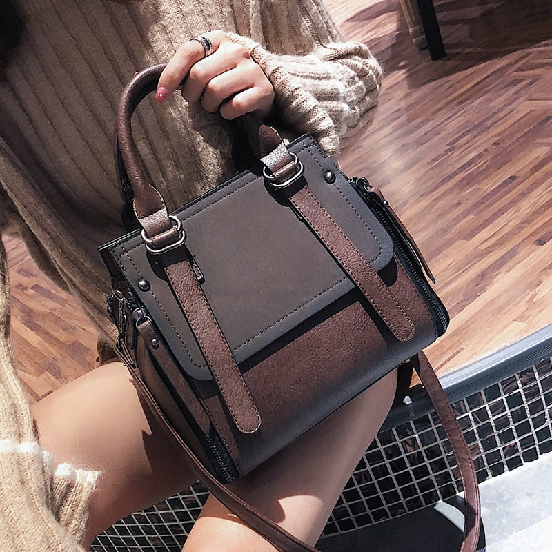 Women's Designer Vintage Leather Shoulder Handbag