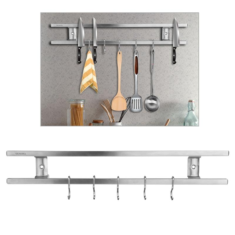 High Quality Magnetic Wall Mount Stainless Steel Kitchen Utensil Holde