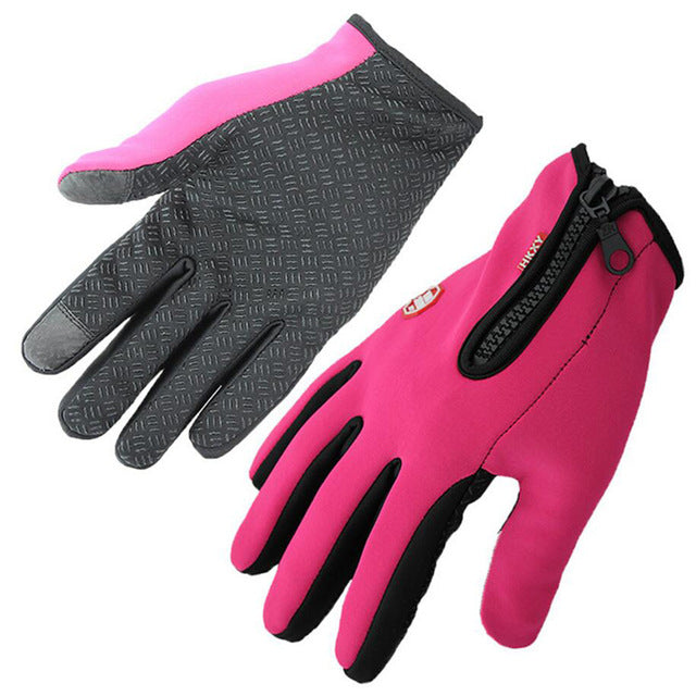 Anti-Slip Thermal Windproof Touchscreen Winter Gloves with Zipper