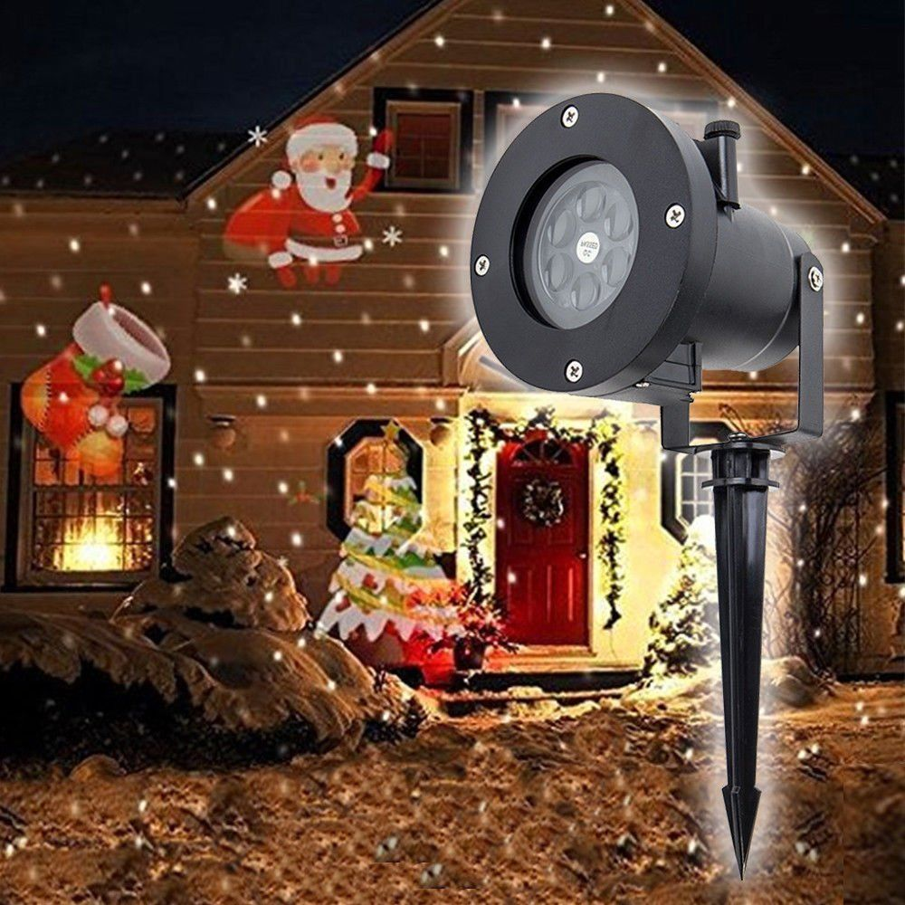 12 Pattern Outdoor Laser Projection Holiday Decoration Light