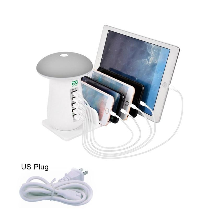 5 Port USB Rapid Desktop Smart Station with Night Light