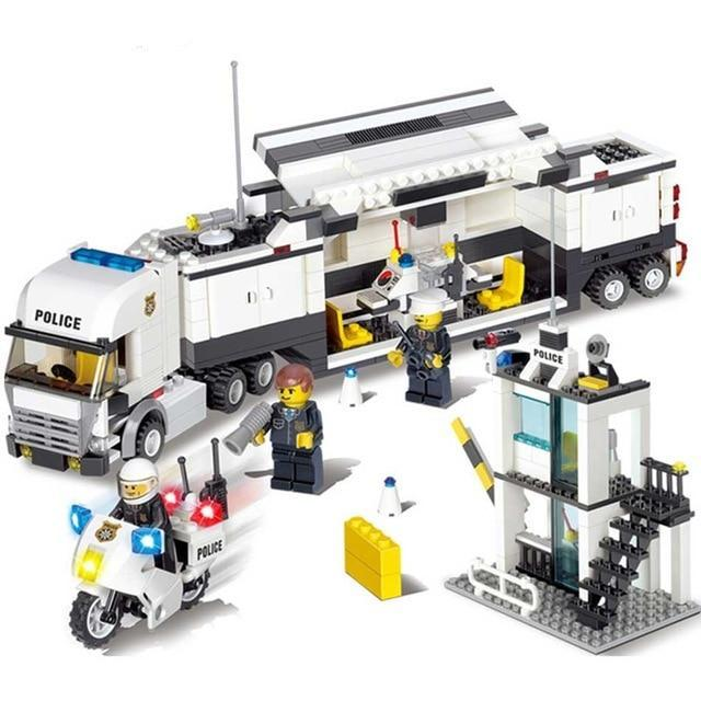 Police Station Building Block Set - 500 Pieces